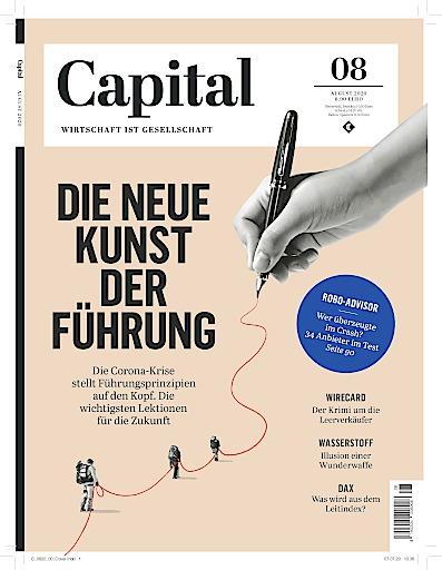 """Titel CAPITAL 08/2020. Weiterer Text über ots und www.presseportal.de/nr/8185 / Die Verwendung dieses Bildes ist für redaktionelle Zwecke honorarfrei. Veröffentlichung bitte unter Quellenangabe: """"obs/Capital, G+J Wirtschaftsmedien"""""""