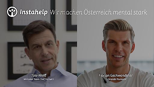 Mercedes-Motorsportchef Toto Wolff und Unternehmer Florian Gschwandtner sind Botschafter der Bewegung Mind Up!