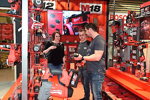 Produkte der Fachhandelsmarke Milwaukee überzeugen mit ihrer Leistung und sind eine der Top-Marken bei LET'S DOIT.
