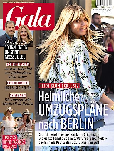 """GALA Cover 30/20 (EVT: 16. Juli 2020). Weiterer Text über ots und www.presseportal.de/nr/6106 / Die Verwendung dieses Bildes ist für redaktionelle Zwecke honorarfrei. Veröffentlichung bitte unter Quellenangabe: """"obs/Gruner+Jahr, Gala"""""""