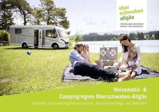 """Die Broschüre """"Reisemobil- & Campingregion Oberschwaben-Allgäu"""" gibt einen kompakten Überblick über Stell- und Campingplätze, Routenvorschläge und Stationen. Sie kann kostenfrei angefordert werden bei Oberschwaben Tourismus (Credit: OTG / Dethleffs, Zangerl Fotografie)"""