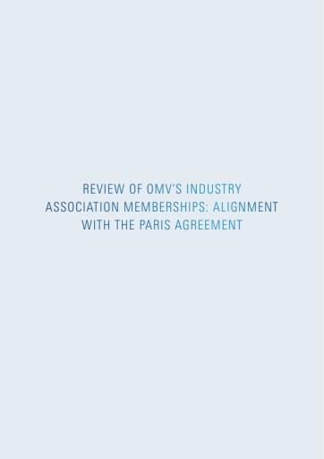 OMV Mitgliedschaften in Industrieverbänden im Einklang mit dem Pariser Abkommen