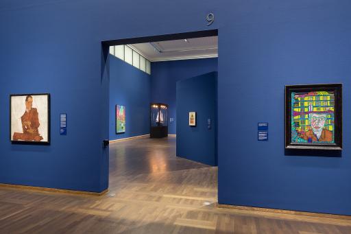 "Ausstellung ""Hundertwasser-Schiele. Imagine Tomorrow"" im Leopold Museum Wien"