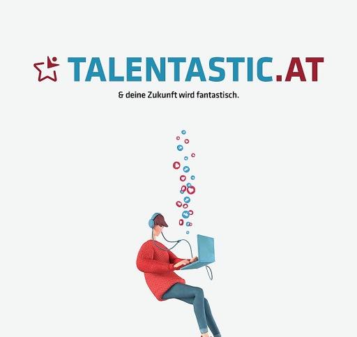 """Logo der Online Challenge """"talentastic.at"""""""