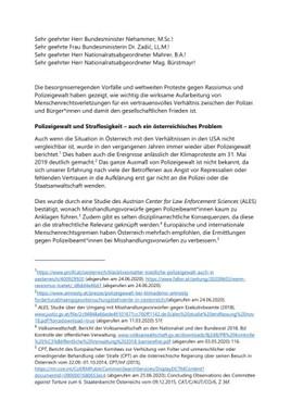 Offener Brief: 40 Organisationen & Expert*innen fordern konsequente und menschenrechtskonforme Polizeireformen