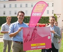 NEOS Wien reicht Liste für Wien-Wahl ein