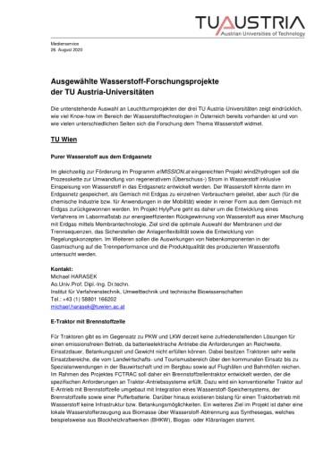 Wasserstoff-Milliarden für Österreich: TU Austria-Universitäten plädieren für Investitionsschub