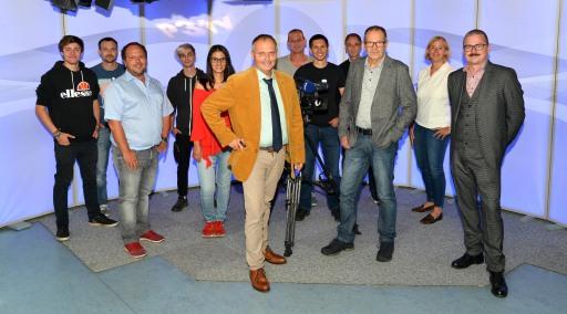 Das engagierte Team von P3tv, das Dienstag und Freitag Woche für Woche das Programm produziert