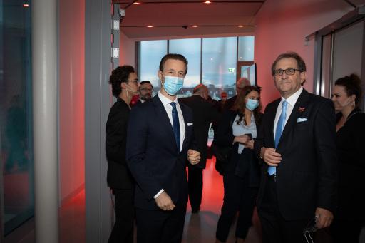 v.l.n.r.: Bundesminister Gernot Blümel, MQ-Direktor Christian Strasser