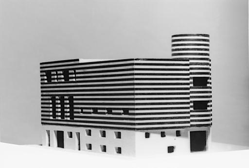 Adolf Loos, Haus Josephine Baker, Paris XVI, Avenue Bugeaud, Frankreich (Projekt für den Um- und Zusammenbau zweier bestehender Häuser), 1927, Modell