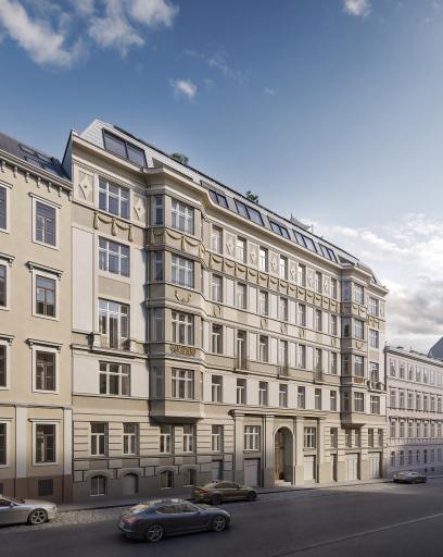 In diesem revitalisertem Stilaltbau in der Skodagasse 15 entstehen 38 großflächige Wohnungen