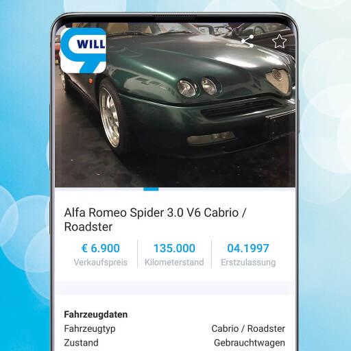 Alfa Romeo Spider V6: Ex-Cabrio von Tormann-Legende Michael Konsel auf willhaben angeboten