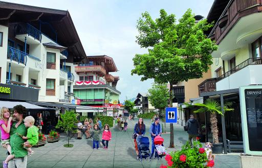 Visualisierung Hauptstraße Mayrhofen