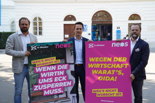 Pressekonferenz über den Wirtschaftsstandort Wien.