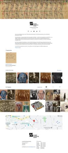 "Website Google Arts & Culture Sammlung ""Arnold Schönberg Center"""