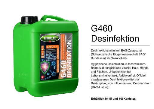 MAXOLEN G460 Desinfektion