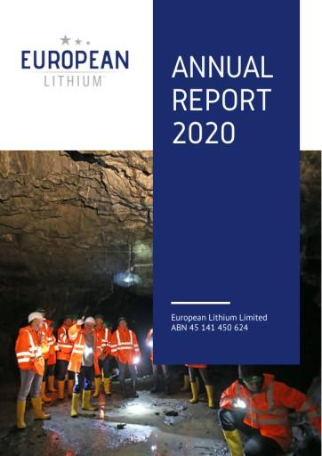 EANS-News: European Lithium Limited / Annual Report 2020