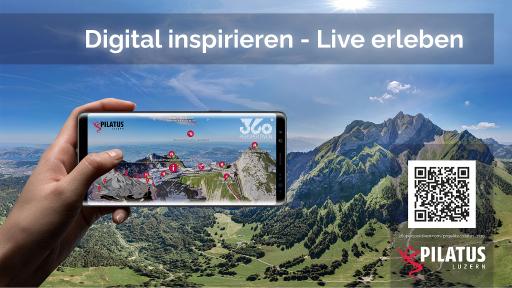 Pilatus Tour QR-Code Digital inspirieren - Live erleben