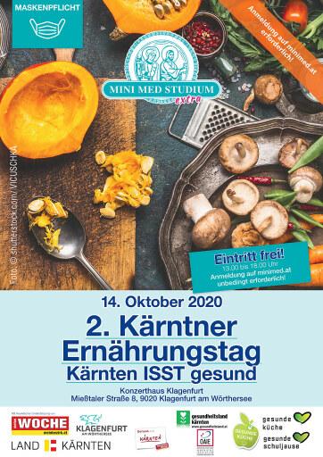 Einladung zum 2. Kärntner Ernährungstag am 14.10.2020 in Klagenfurt.