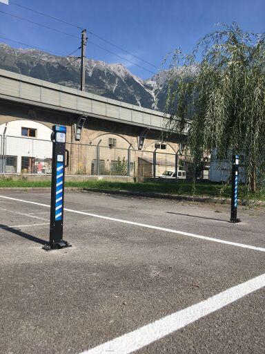 Beispiel für die Bewirtschaftung einer freien Parkfläche mit CAMPPA-Ladesäulen