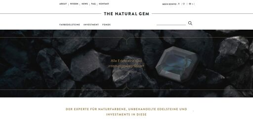Screenshot Webseite THE NATURAL GEM