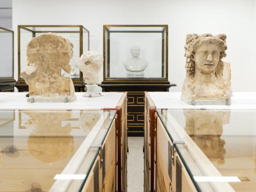 Ausstellungsansicht DEFROSTING THE ICEBOX Die verborgenen Schätze der Antikensammlung des Kunsthistorischen Museums und des Weltmuseum Wien zu Gast im mumok