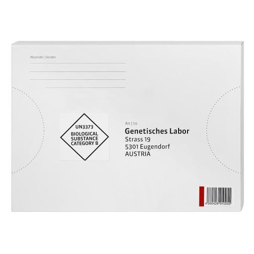 """Die Verpackung des """"Coronavirus-Tests für Zuhause""""."""