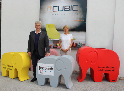 "Gemeinde Jenbach ""Babelo-Abstandselefant"""