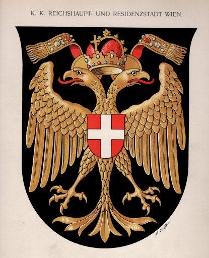 rk 2020 wiener wappen 2: Wiener Stadtwappen von Hugo Gerard Ströhl (1904)