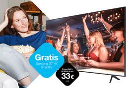 Drei: Gratis 50 Zoll Samsung Smart-TV mit neuem Zuhause-Internet.