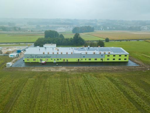 Der neu gebaute Schlachthof der Eiermacher GmbH in Nußbach.