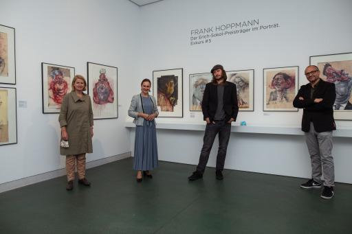 Pressefoto Frank Hoppmann im Karikaturmuseum Krems