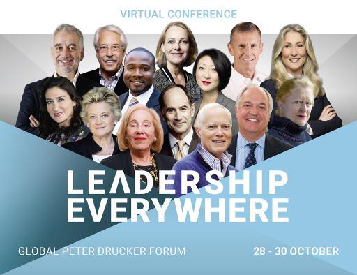 Top-Speaker beim diesjährigen virtuellen Peter Drucker-Forum