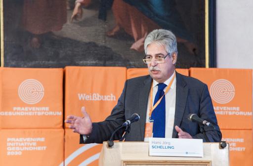 PRAEVENIRE Präsident Dr. Hans Jörg Schelling bei der Eröffnung der PRAEVENIRE Gesundheitstage im Stift Seitenstetten