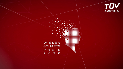 Live Stream TÜV AUSTRIA Wissenschaftspreis Galaabend, 11. November 2020, 19.30 Uhr aus dem TU Wien Kuppelsaal: tuvaustria.com/wissenschaftspreis