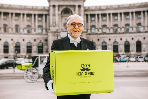 Storage-Butler Herr Alfons startet in Wien