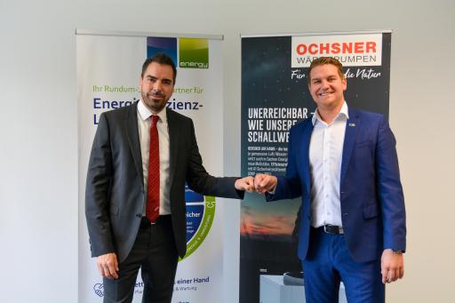 Karl Ochsner (OCHSNER Wärmepumpen GmbH), Lukas Scherzenlehner (CLEEN Energy)