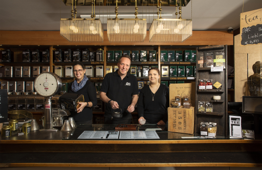 Verkaufstheke JägerTEE, 1010, Operngasse 6 Wiens ältestes Teefachgeschäft in 4. Generation in Familienbesitz