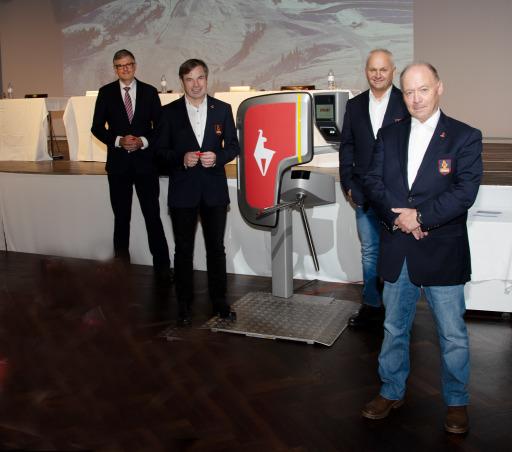 Im Bild (v.l.n.r): BGM Dr. Klaus Winkler, Mag. Anton Bodner, Mag. Christian Wörister und Walter Astl