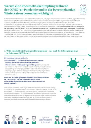 Fünf gute Gründe für die Pneumokokken-Impfung