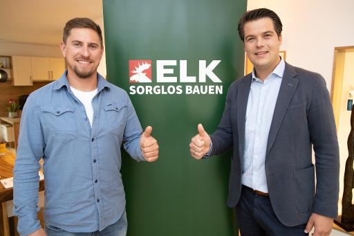 Max Franz und Thomas Scheriau (ELK Geschäftsführer) freuen sich auf die Zusammenarbeit