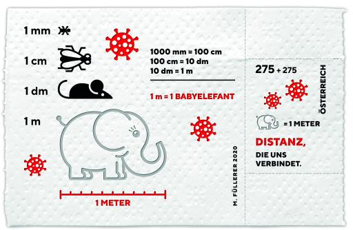 Corona-Briefmarke der Österreichischen Post AG