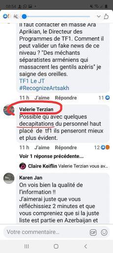 """Journalist des französischen Senders """"TF1"""" erhielten Todesdrohungen von Armeniern."""