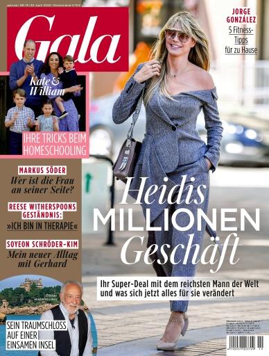 """GALA Cover 45/2020 (EVT: 29. Oktober 2020) / Weiterer Text über ots und www.presseportal.de/nr/6106 / Die Verwendung dieses Bildes ist für redaktionelle Zwecke honorarfrei. Veröffentlichung bitte unter Quellenangabe: """"obs/Gruner+Jahr, Gala"""""""