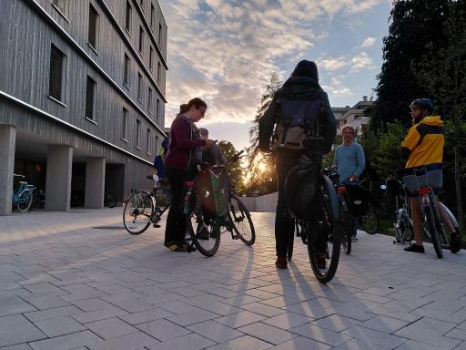 Österreich radelt beim passathon 2020 - RACE FOR FUTURE zu Forschungsobjekten wie hier in Wolfurt
