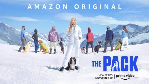 """Lindsey Vonn, zwölf abenteuerlustige Hunde und Tractive – ab dem 20. November beweisen Hundebesitzer in der neuen Amazon Prime Serie """"The Pack"""" gemeinsam mit ihren Vierbeinern, wie stark ihre Bindung wirklich ist."""