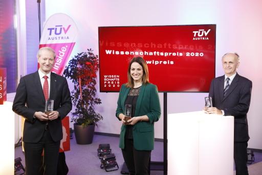 Virtueller Gala-Abend beim TÜV AUSTRIA Wissenschaftspreis 2020