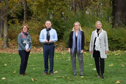 Das Team von Pro Rare Austria (v.l.n.r.): Elisabeth Weigand, Rainer Riedl, Ulrike Holzer, Dominique Sturz