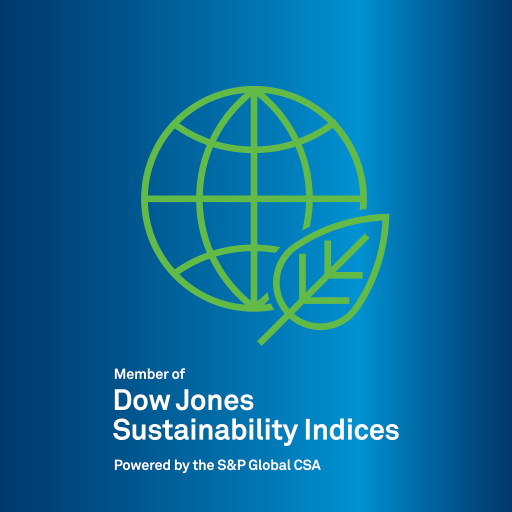 Logo OMV im Dow Jones Sustainability Index