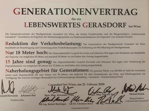 Generationenvertrag für ein lebenswertes Gerasdorf
